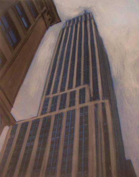 Mixed Media - Empire State Building 1 by Anita Burgermeister