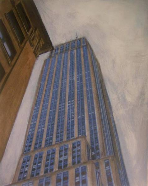Mixed Media - Empire State Building 2 by Anita Burgermeister