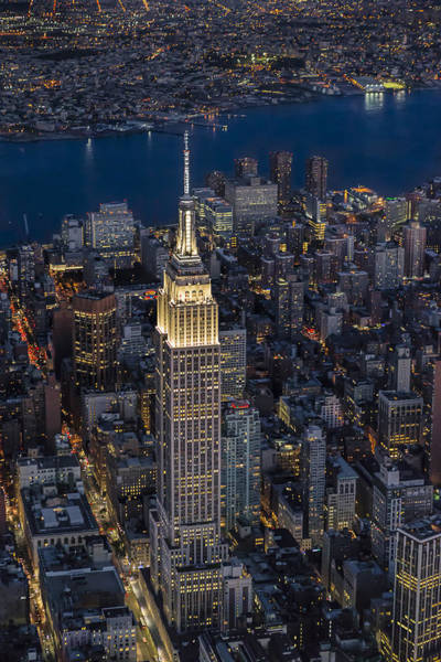 Photograph - Empire State Building Aerial View by Susan Candelario