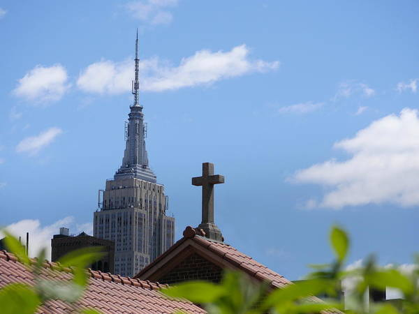 Photograph - Empire State Building And Guardian Angel by Richard Reeve