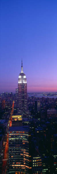N.c Wall Art - Photograph - Empire State Building At Sunset, View by Panoramic Images