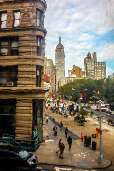 Wall Art - Photograph - Empire State Building - Crackled View 3 by Madeline Ellis