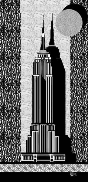 Painting - Empire State Building Deco Swing by Cecely Bloom