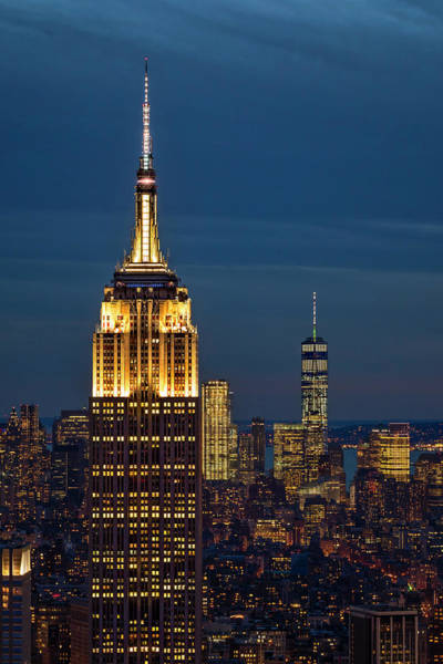 Wall Art - Photograph - Empire State Building Esb World Trade Center Wtc Nyc by Susan Candelario