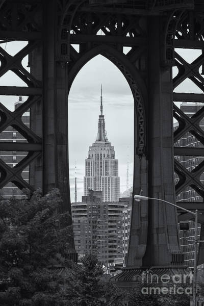 Photograph - Empire State Building Framed by Clarence Holmes