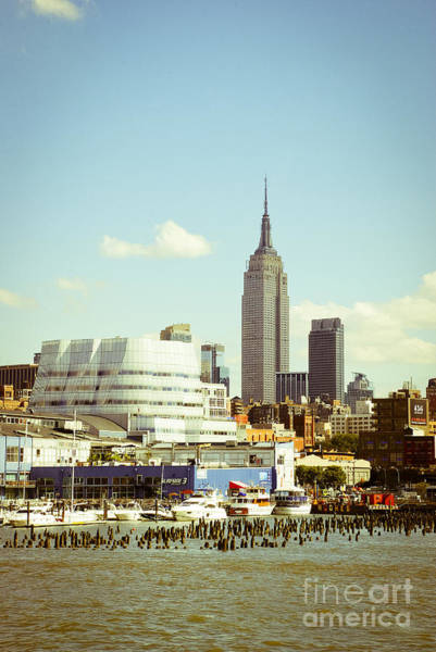 The Empire State Building Digital Art - Empire State Building From Hudson by Perry Van Munster