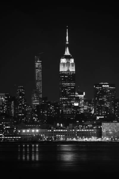 Photograph - Empire State Building In Black And White by Raymond Salani III