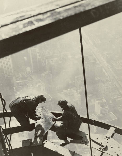 Men At Work Wall Art - Photograph - Empire State Building by Lewis Wickes Hine
