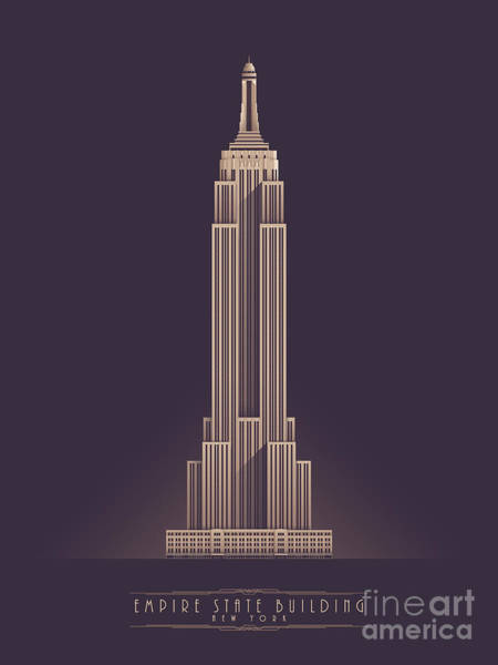 Wall Art - Digital Art - Empire State Building - Vintage Dark by Ivan Krpan