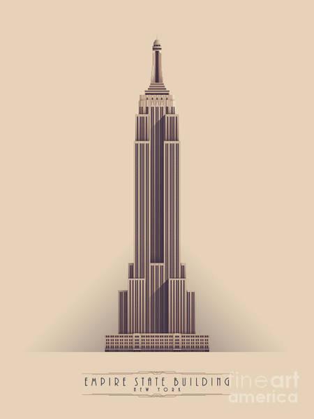 Skyscraper Digital Art - Empire State Building - Vintage Light by Ivan Krpan