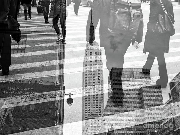 Photograph - Empire State Double Exposure by John Rizzuto