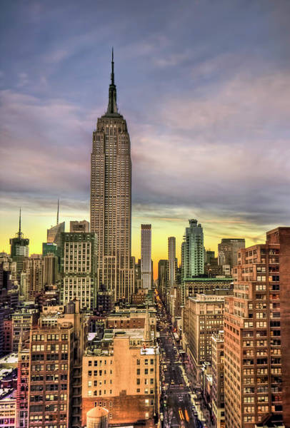 Skyscrapers Wall Art - Photograph - Empire State Of Mind by Evelina Kremsdorf