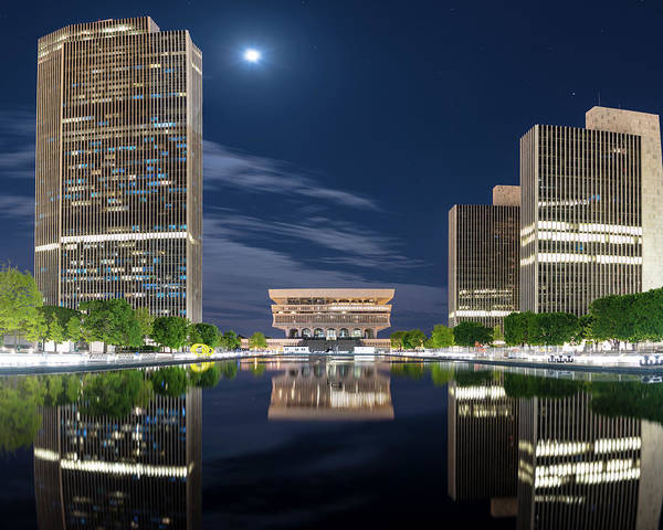 Photograph - Empire State Plaza by Brad Wenskoski