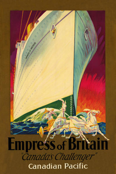 Photograph - Empress Of Britain 1931 by Andrew Fare