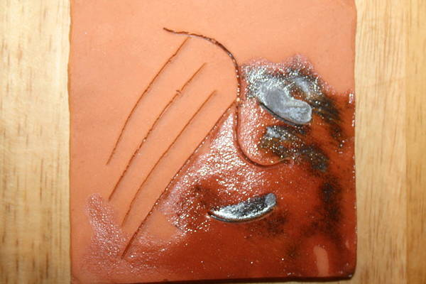 Ceramic Art - Emptiness - Tile by Gloria Ssali