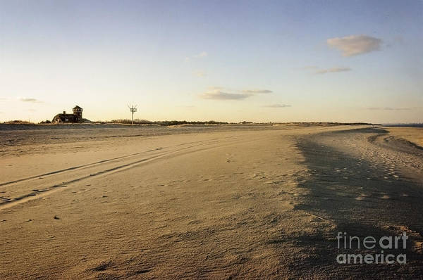 Photograph - Empty Beach At Sandy Hook by Debra Fedchin