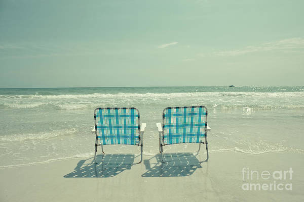Wall Art - Photograph - Empty Beach Chairs by Edward Fielding