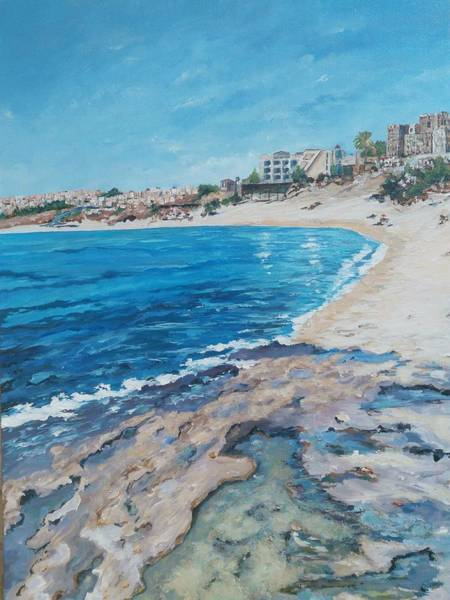 Painting - Empty Beach by Ray Khalife