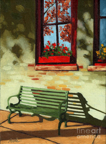 Wall Art - Painting - Empty Bench by Linda Apple
