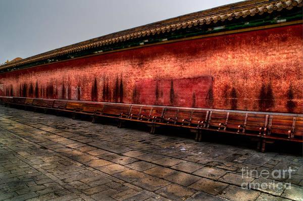 Wall Art - Photograph - Empty Benches by Venetta Archer
