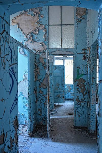 Wall Art - Photograph - Empty Blue Rooms by Joachim G Pinkawa