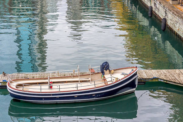 Photograph - Empty Boat At Dock by Pete Hendley