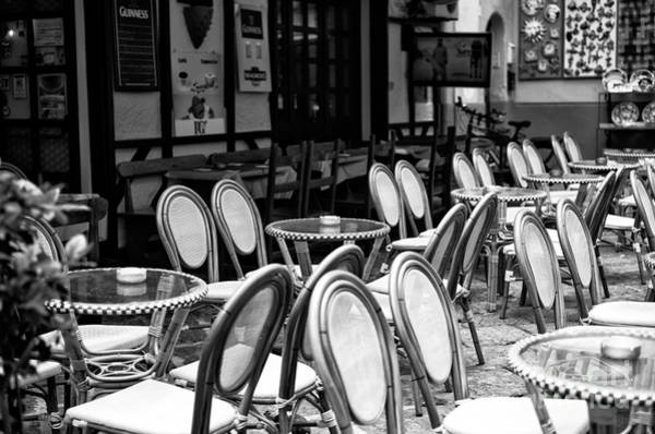 Wall Art - Photograph - Empty Cafe In Sorrento by John Rizzuto