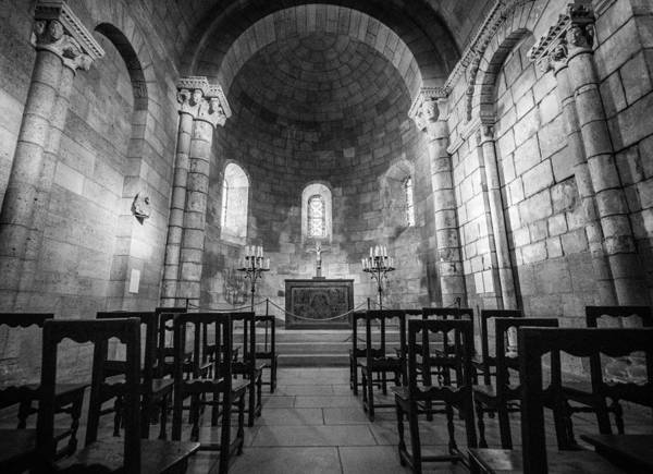 Cloister Photograph - Empty Chapel by Kristopher Schoenleber