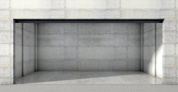 Doorway Digital Art - Empty Double Garage by Allan Swart