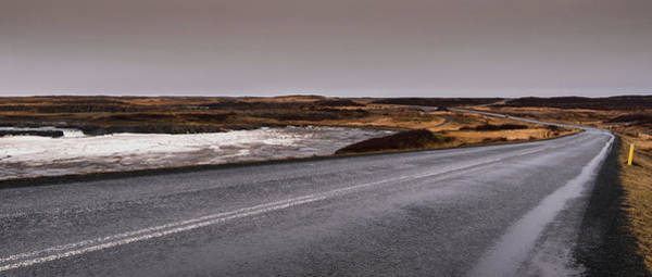 Icelandic Landscapes Wall Art - Photograph - Empty Icelandic Country Road In Winter by Michalakis Ppalis