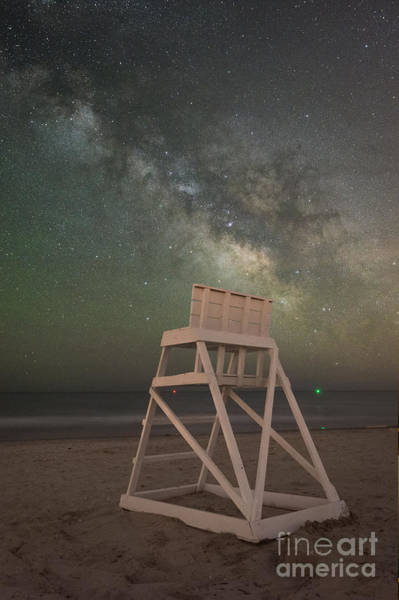 Avalon Wall Art - Photograph - Empty Life Guard Stand At Night by Michael Ver Sprill