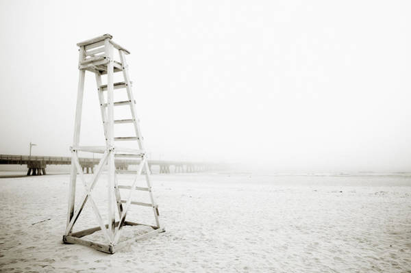 Wall Art - Photograph - Empty Life Guard Tower 1 by Skip Nall