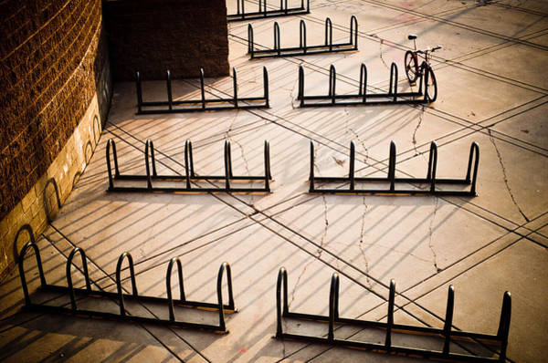 Bicycle Rack Photograph - Empty Of Purpose by Scott Sawyer