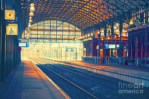 Photograph - Empty Rail Station  by Ariadna De Raadt