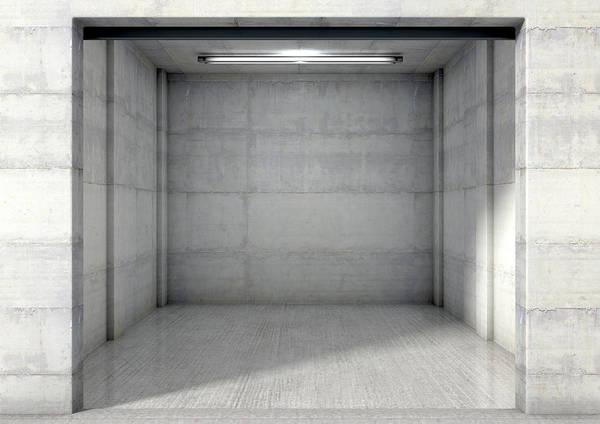 Doorway Digital Art - Empty Single Garage by Allan Swart