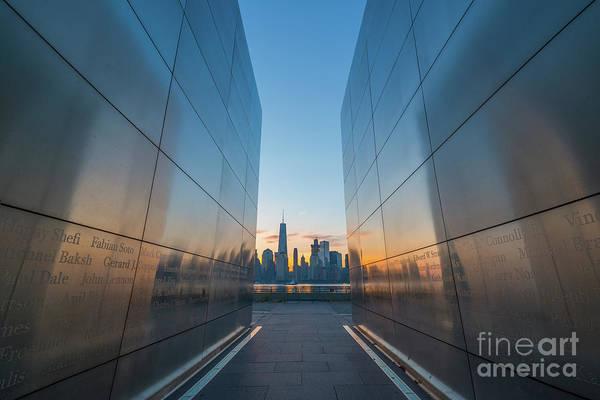 Nine Eleven Photograph - Empty Sky Memorial Sunrise by Michael Ver Sprill