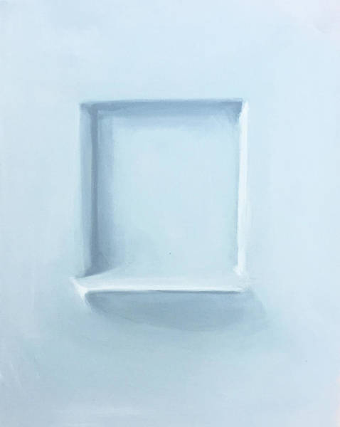 Monochromatic Painting - Empty Spaces by Jeffrey Bess