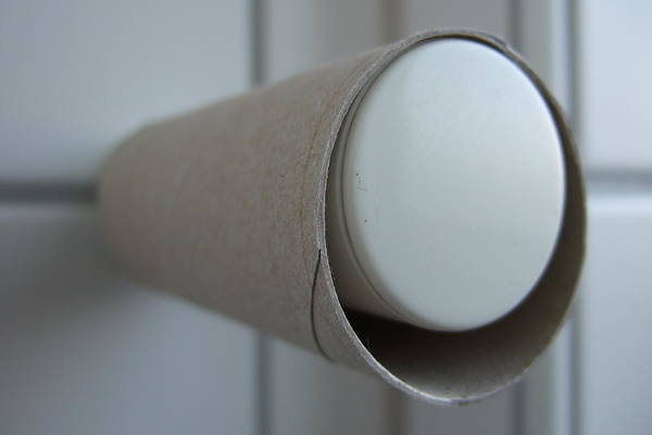 Toilet Photograph - Empty Toilet Paper Roll by Matthias Hauser