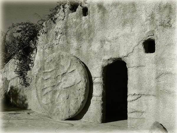Photograph - Empty Tomb In Black And White by Jill Lang
