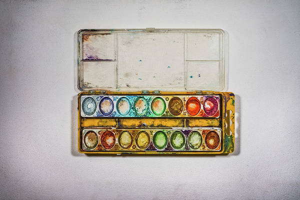 Wall Art - Photograph - Empty Watercolor Paint Trays by Scott Norris