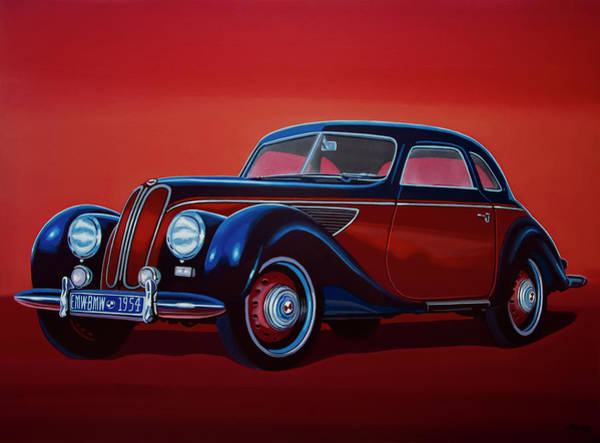 Oldtimer Wall Art - Painting - Emw Bmw 1951 Painting by Paul Meijering