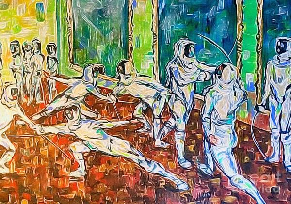 Painting - En Garde Moderne by Lisa Owen-Lynch