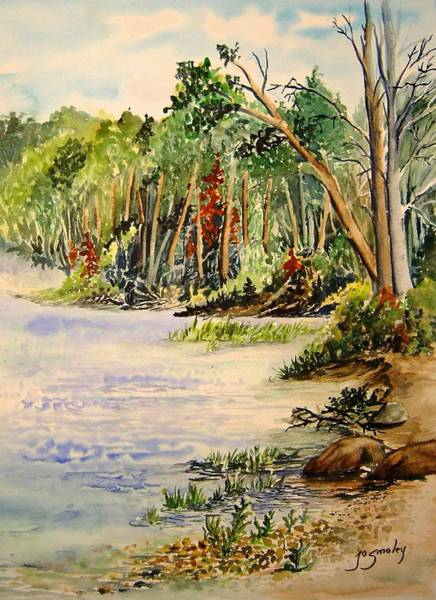 Painting - En Plein Air At Otter Falls Boat Launch by Joanne Smoley
