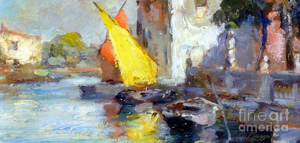 En Plein Air In Venice Art Print