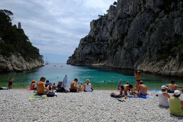 Photograph - En Vau Calanques-beach by August Timmermans