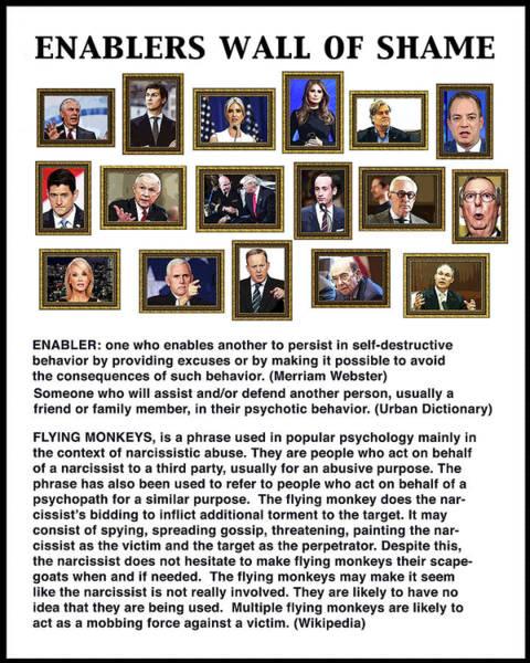 Trump Digital Art - Enablers by Joe  Palermo
