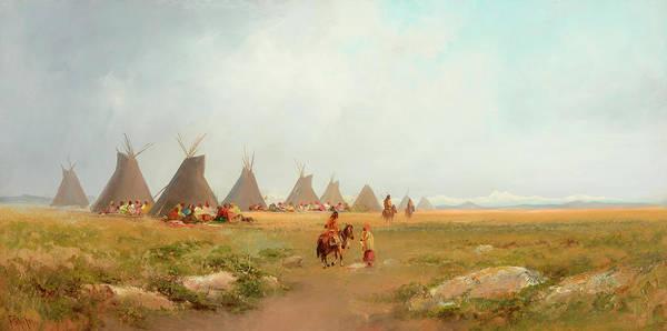 Encampment Wall Art - Painting - Encampment by Frederick Schafer