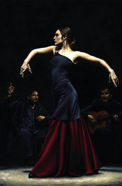 Wall Art - Painting - Encantado Por Flamenco by Richard Young