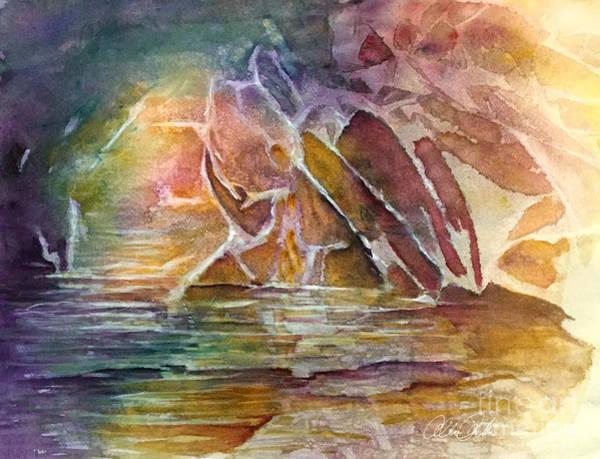 Painting - Enchanted Cavern by Allison Ashton