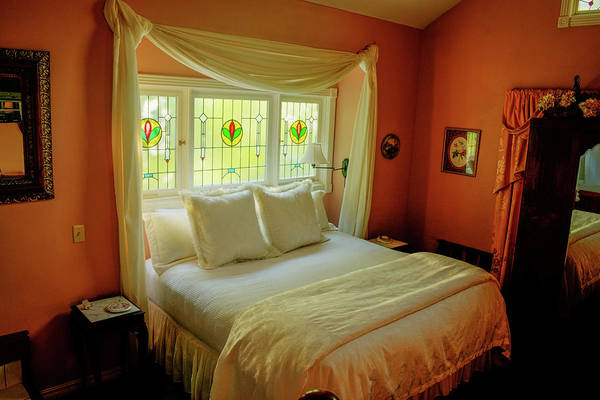 Eureka Springs Photograph - Enchanted Bedroom In Orange by Douglas Barnett